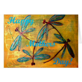 Happy Mothers Day Dragonfly Haze Greeting Card
