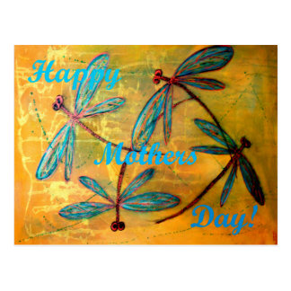 Happy Mothers Day Dragonfly Haze Postcard
