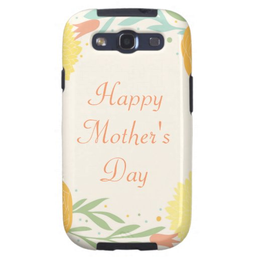 Happy Mother's Day Floral Design Galaxy SIII Covers