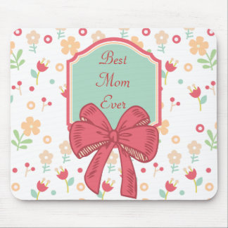 Happy Mother's Day Floral Design Mouse Pad