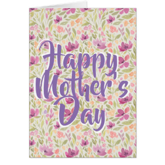 Happy Mother's Day Floral Feminine Greeting Card