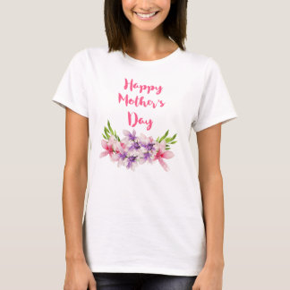 Happy Mother's Day Floral Watercolor T-Shirt