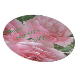 Happy Mother's Day Flowers Plate