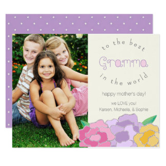 Happy Mother's Day Gramma Photo Card