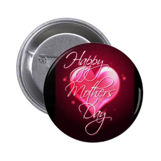HAPPY MOTHER'S DAY HEART by SHARON SHARPE 2 Inch Round Button
