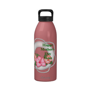 Happy Mother's Day Hibiscus Water Bottle Personali