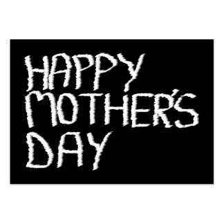 Happy Mother's Day. In Black and White. Business Card Template