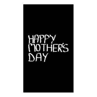 Happy Mothers Day In Black and White Business Card Templates