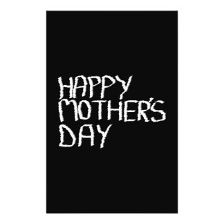 Happy Mother's Day. In Black and White. Flyer Design