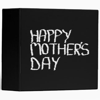 Happy Mother's Day. In Black and White. Vinyl Binder