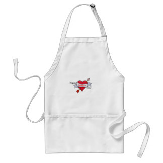 Happy Mother's Day in Heart tattoo Standard Apron