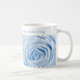 Happy Mothers Day - Light Blue Rose Center Coffee Mug
