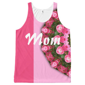Happy Mother's Day! Mom! Red Roses 01.2.4, mandala All-Over-Print Tank Top