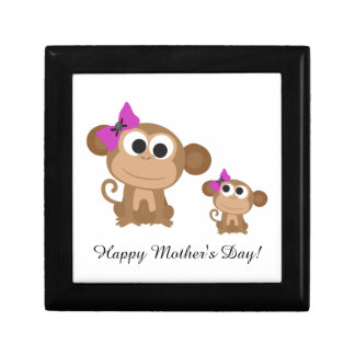 Happy Mother's Day Monkey Trinket Boxes