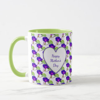 Happy Mothers Day Morning Glory Floral Photography Mug
