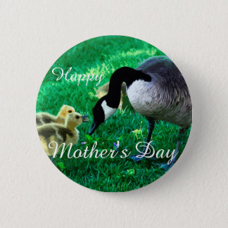 Happy Mother's Day - Mother Goose 2 Inch Round Button