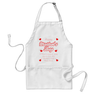 Happy Mothers Day Mothers Work Is Never Done Shirt Standard Apron