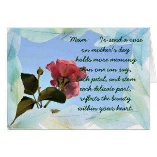 Happy Mothers day Mum Card