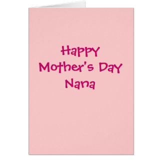 Happy Mother's Day Nana card