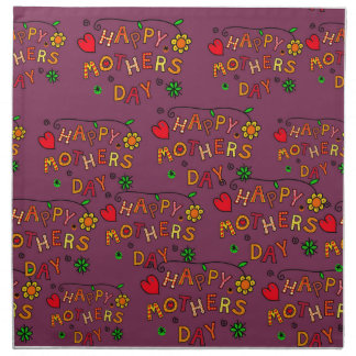 Happy Mothers Day Napkin