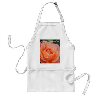 Happy Mother's Day Orange Rose Apron