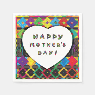 Happy Mothers Day Paper Napkins
