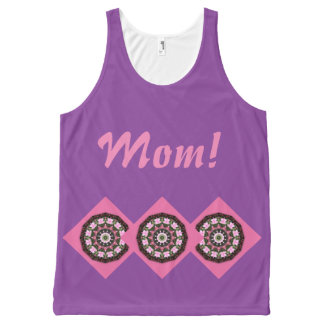 Happy Mother's Day! Pink Blossoms 03.2, mandala All-Over-Print Tank Top