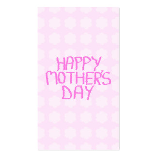 Happy Mothers Day Pink Flower Pattern Business Card Templates
