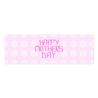 Happy Mothers Day Pink Flower Pattern Business Cards