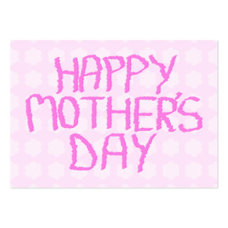 Happy Mothers Day. Pink Flower Pattern Business Card Template