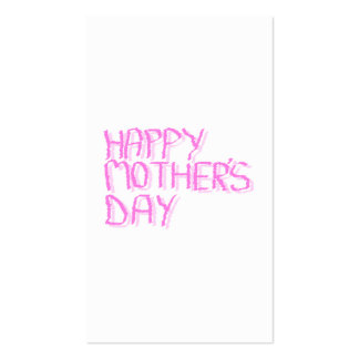 Happy Mothers Day.  Pink Letters. Business Cards