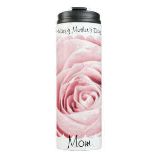 """Happy Mother's Day"" Pink Rose Floral Photography Thermal Tumbler"