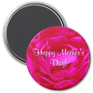 Happy Mother's Day Pink Rose Fridge Magnets