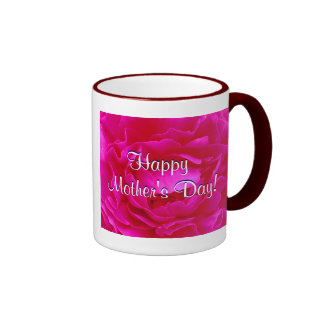 Happy Mother's Day Pink Rose IV Coffee Mugs