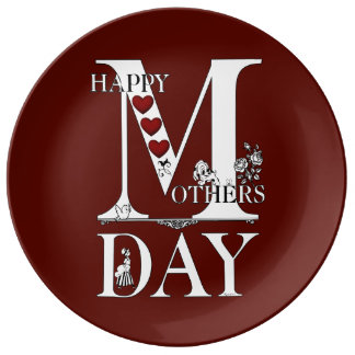 Happy Mothers Day Porcelain Plate