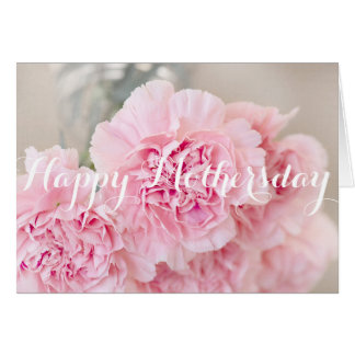 Happy Mothers day Powder Pink Flower Card