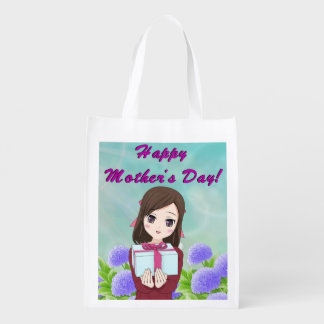 Happy Mother's Day Present (Customizable) Reusable Grocery Bag