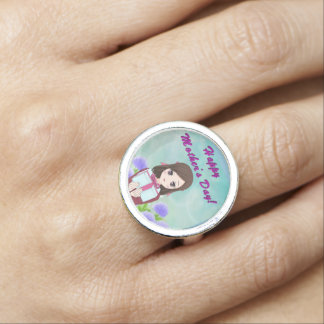 Happy Mother's Day Present (Customizable) Ring