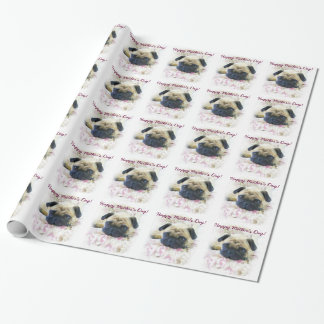 Happy Mother's Day Pug Dog wrapping paper
