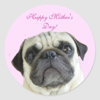 Happy Mother's Day pug stickers