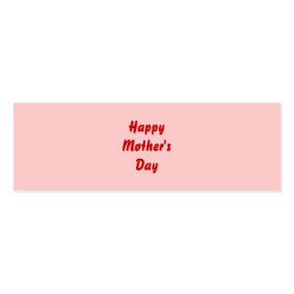 Happy Mothers Day. Red and Pink. Custom Business Card