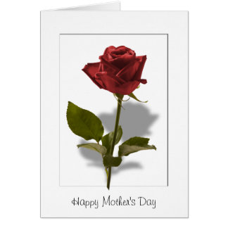 Happy Mother's Day - Red Rose Card