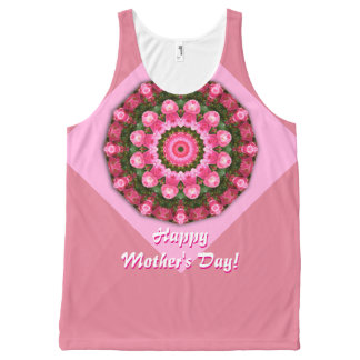 Happy Mother's Day! Red Roses 01.2, mandala All-Over-Print Tank Top