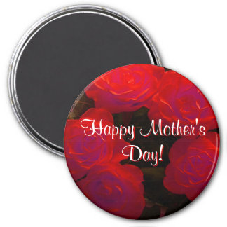 Happy Mother's Day Red Roses Fridge Magnets