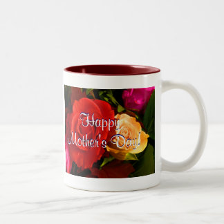 Happy Mother's Day Red Yellow Roses Coffee Mug
