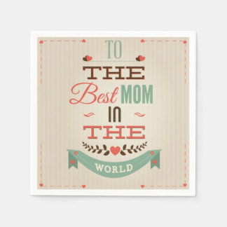 Happy Mother's Day Retro Greeting Disposable Napkins