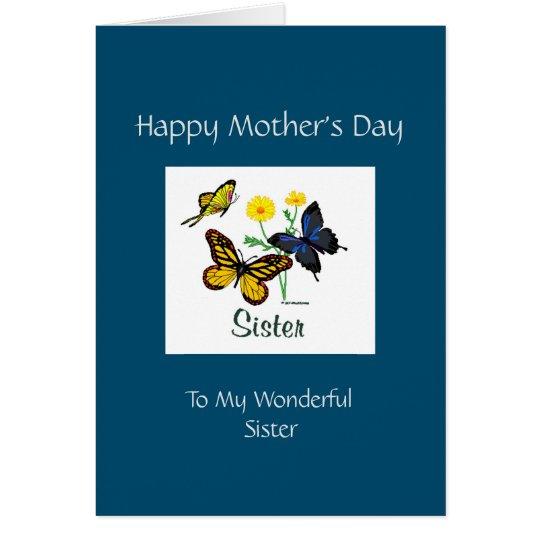 Happy Mothers Day Sister Card