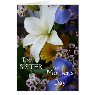 Happy Mother's Day-Sister-Pretty Floral Card