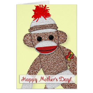 """""""Happy Mother's Day!"""" Sock Monkey Tattoo card note"""