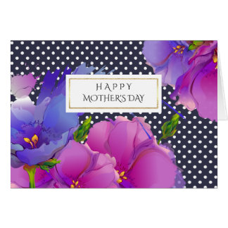 Happy Mother's Day. Spring Flowers Custom Cards